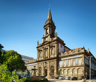 The Trinity Church in Porto, Portugal. Stock Images