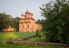 Trinity Church with a refectory in the Spiritual Monastery Stock Images