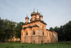 Trinity Church with a refectory in the Spiritual Monastery Stock Image