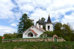 Trinity Church in the village Byokhovo constructed in 1906 on the project of V. Polenov Royalty Free Stock Photography