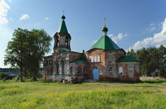 Trinity Church in village Shilovka of Sverdlovsk area in Russia Royalty Free Stock Image