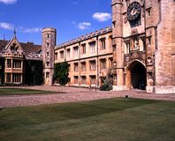 Trinity college, Cambridge. Royalty Free Stock Image