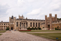 Trinity College in Cambridge. The inner courtyard of Trinity College in Cambridge, UK Royalty Free Stock Images