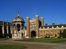 Trinity College, Cambridge University. In summer, inner courtyard Stock Photography