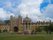 Trinity College, Cambridge University. In summer, inner courtyard Stock Images