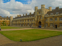 Trinity College, Cambridge University. In summer, inner courtyard Royalty Free Stock Photo