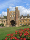 Trinity College, Cambridge University. In summer, inner courtyard Royalty Free Stock Photography