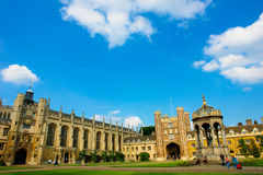 Trinity College, Cambridge University. In summer, inner courtyard Royalty Free Stock Photos