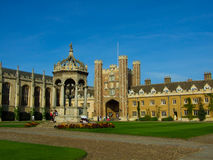 Trinity College, Cambridge University. Trinity College main court, Cambridge University Stock Photography