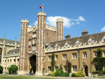 Trinity College Cambridge University. The College of the Holy and Undivided Trinity is the largest of the colleges of Cambridge University. Founded in 1546 by Royalty Free Stock Image