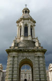 Trinity College Dublin. Taken in Trinity College Dublin Ireland, shows storm clouds behand the tower Royalty Free Stock Photos