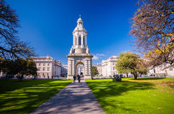 Trinity College, Dublin. The interior courtyard of Trinity College, Dublin City Stock Image
