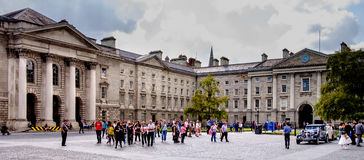 Trinity College. Dublin, Ireland. August 18, 2015. Buildings in Trinity College in Dublin city centre Stock Photos