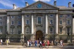 Trinity College. Entrance . Dublin. Ireland royalty free stock images