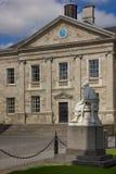 Trinity College. Dining hall facade . Dublin. Ireland stock images