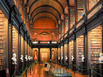 Trinity College Library in Dublin. Ireland Stock Photos
