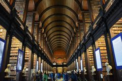 Trinity College Library in Dublin Ireland stock photography