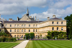Trinity College, Oxford University. View of the rear garden of Trinity College, Oxford University stock photos