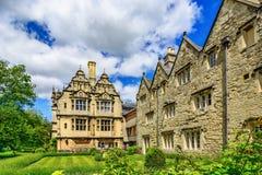 Trinity College, Oxford University, Oxford, England, UK. Graduates Garden and Jackson Building. Trinity College, Oxford University, Oxford, England UK Royalty Free Stock Images