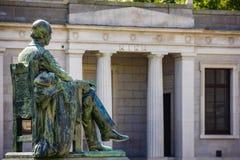 Trinity College. Reading room. Dublin. Ireland. Trinity College. the reading room building and statue of William Leckey. Dublin. Ireland Royalty Free Stock Image