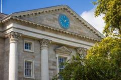 Trinity College. Regent House. Clock . Dublin. Ireland. Trinity College. Regent House. the Entrance viewed from Parliament square. Dublin. Ireland Royalty Free Stock Image