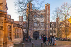 Trinity college view, Cambridge. CAMBRIDGE, UK - JANUARY 18, 2015: Trinity college, university of Cambridge Stock Photography