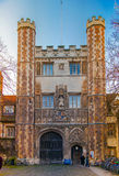 Trinity college view, Cambridge. CAMBRIDGE, UK - JANUARY 18, 2015: Trinity college, university of Cambridge Stock Image