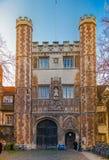 Trinity college view, Cambridge Stock Image