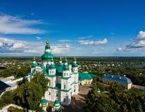Trinity-Ilna Monastery of Chernihiv from the belfry Stock Image