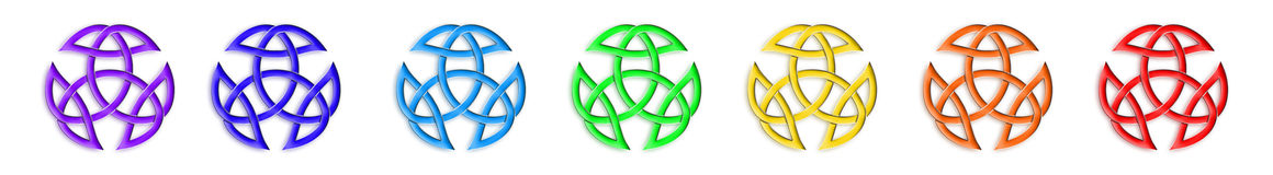 Trinity Knot Chakra Colors Stock Images