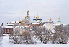 Trinity Lavra of Saint Sergius, Russia. View of Trinity Lavra of Saint Sergius in winter, Sergiev Posad city, Russia Royalty Free Stock Photos