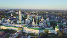 Trinity Lavra of St. Sergius - aerial view stock footage