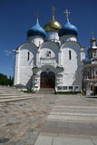 Trinity Lavra of St. Sergius - the largest Orthodox male monastery in Russia. Assuption Cathedral, 16th century Royalty Free Stock Photography