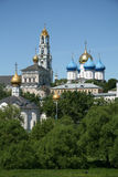 Trinity Lavra of St. Sergius - the largest Orthodox male monastery in Russia Royalty Free Stock Photo