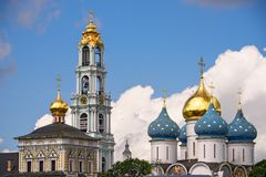 Trinity Lavra of St. Sergius.  Sergiev Posad, Moscow region. Golden ring, Russia. Stock Photography