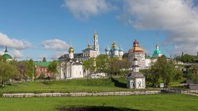 Trinity Lavra of St. Sergius in Sergiev Posad, Russia. Zoom in time lapse video of Trinity Lavra of St. Sergius in Sergiev Posad, Moscow oblast, Russia stock video footage