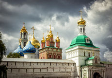 Trinity Lavra of St. Sergius in Sergiyev Posad near Moscow. Russia. The Holy Trinity Lavra is one of the greatest of Russian monasteries and is site of the royalty free stock image