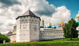 Trinity Lavra of St. Sergius in Sergiyev Posad near Moscow. Russia. The Holy Trinity Lavra is one of the greatest of Russian monasteries and is site of the stock photo
