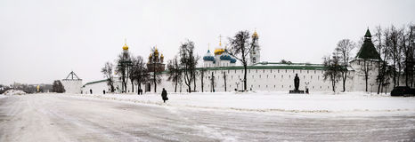 The Trinity Lavra of St. Sergius in winter Royalty Free Stock Images