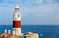 Trinity Lighthouse at Europa Point, near the Strait of Gibraltar Royalty Free Stock Image