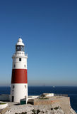 Trinity Lighthouse, Gibraltar. The Southern Point of Gibraltar (Europe Point stock image
