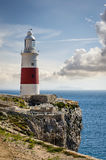 Trinity lighthouse at Gibraltar Europa Point. Royalty Free Stock Photography