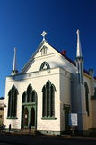 Trinity Methodist Church on Clive Square Gardens, Napier, New Zealand Royalty Free Stock Images