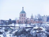 Trinity monastery. View of Trinity Monastery in Smolensk winter Royalty Free Stock Photo