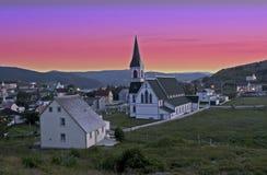 Trinity, Newfoundland, Canada at Sunset Stock Images