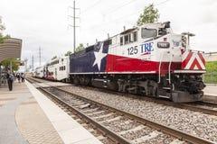 Trinity Railway Express Train in Dallas Stock Image
