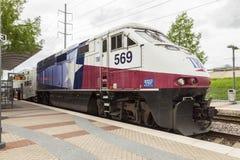 Trinity Railway Express Train in Dallas Stock Photos