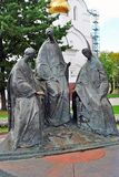 Trinity sculpture composition in Yaroslavl, Russia. Stock Image