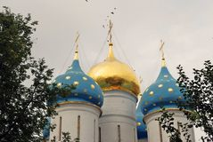 Trinity Sergius Lavra in Russia. Assumption Dormition cathedral Royalty Free Stock Photography