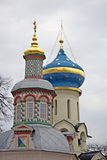Trinity Sergius Lavra in Russia. Dormition cathedral Royalty Free Stock Photography